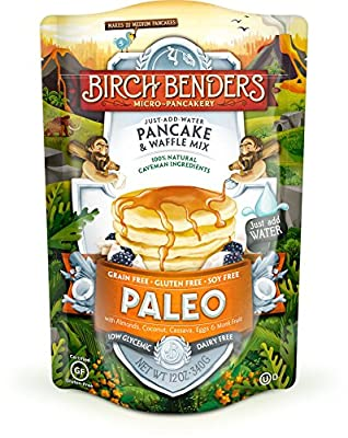 Birch Benders Micro-Pancake Paleo Just-Add-Water Pancake & Waffle Mix - 12oz (6 Pack)
