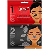 Yes To Tomatoes Charcoal Cleanser & Nose Strip - 2-Step Single Use Detoxifying Nose Kit for Clogged Pores & Blackheads | 2 piece kit - 0.25 fl ounce