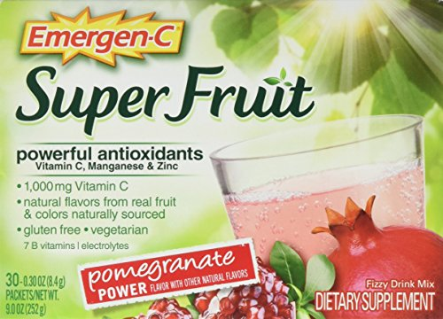 Emergen-C Super Fruit Dietary Supplement (Pomegranate Power Flavor, 30-Count 0.30 oz. Packets)