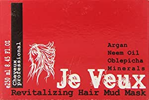 Revitalizing Hair Mud Mask Unisex by Je Veux, 8.45 Ounce
