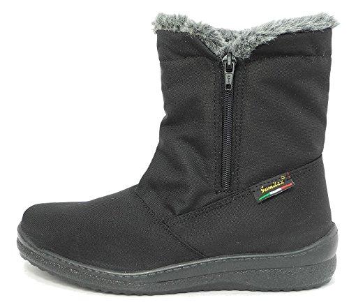 Womens Ladies Mod Comfys Fur Lined Waterproof Warm Winter Snow Boots Black Size 3 4 5 6 7 8 9 aTIBJu