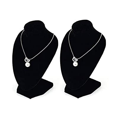 Velvet Necklace Pendant Chain Jewelry Bust Display Holder Stand Brand Show Case