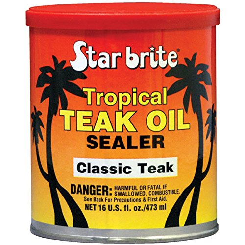 Star Brite Sealer Classic Tropical Teak Oil (16-Ounce) (Sealers Patio)