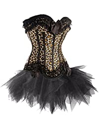 Burlesque Leopard Print Corset And Petticoat, Panty Included, Gift Idea