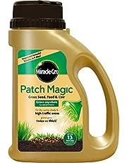 Miracle-Gro Magic graszaden voor het repareren van gazons, met meststoffen en kokosvezels, voldoende voor 13 kale plaatsen, 1,015 kg