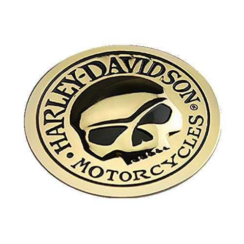 Round Vinyl Decal (Dealetech 3D Metal Decal Sticker Skull Bone Devil Emblem Badge Auto Chrome Car Motorcycle (round gold))