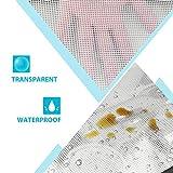SUNEE Plastic Mesh Zipper Pouch Document Bag