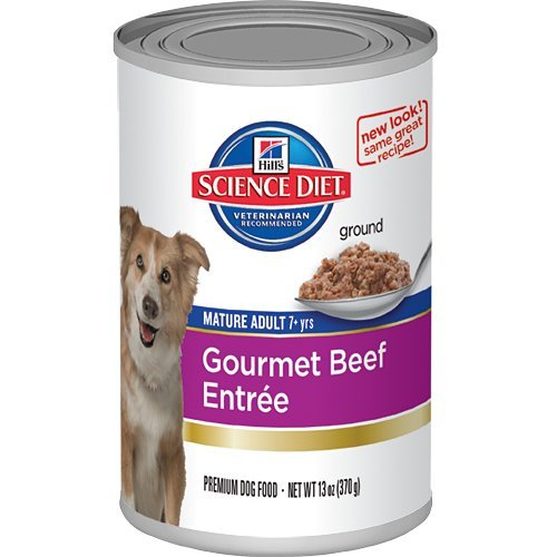 Hill's Science Diet Mature Adult Active Longevity Gourmet Beef Entree Dog Food, 13-Ounce Can, 12-Pack, My Pet Supplies