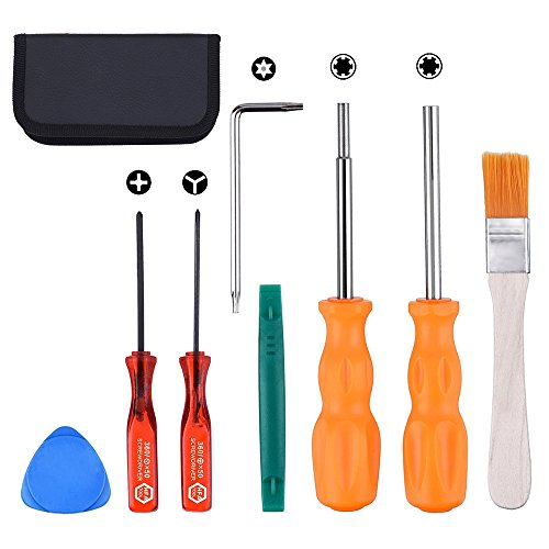 Screwdriver Set for Nintendo Switch,iDeep Professional Security Screwdriver Game Bit Tool Set 3.8 mm 4.5 mm Full Tool Kit for Nintendo NES SNES N64 Sega Game Boy and Consoles Include Carrying Bag ()