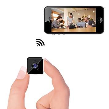 Mini cámara WiFi - Cámara espía Oculta inalámbrica Bysameyee con detección de Movimiento Almacenamiento en la