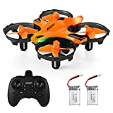 HELIFAR H803 Mini RC Drone Remote Control Drone Infrared Obstacle Avoidance 2.4G 4CH RC Quadcopter, Altitude Hold / LED Night Light / Headless Mode / 3D Flip / One Key Return / Infrared Obstacle Avoidance (2 Batteries)