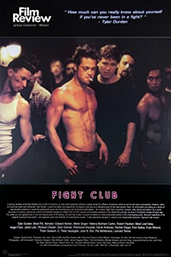 1art1 Posters: Fight Club Poster - Brad Pitt, Film Review Collection (Fight Scene) (36 x 24 inches)