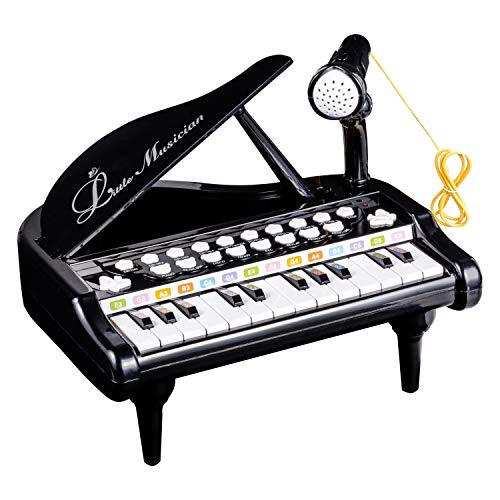 Kids Piano Keyboard Toy 24 Keys Black Friday Electronic Educational Musical Instrument with ()
