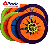 Water Frisbee by JA-RU | Beach Toys Swimming Pool Soft Flying Disc Hours of Beach Fun in the Sun Pack of 6 | Item #1031