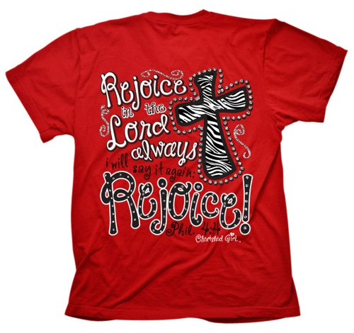 Cherished Girl Rejoice In The Lord Always Adult T-Shirt