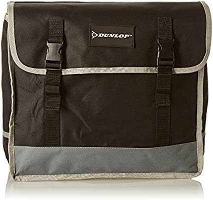 Dunlop - Alforjas para Bicicleta, Doble PES, Negro/Gri: Amazon.es ...