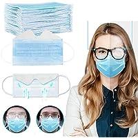 Santen 50 gafas de ojos amigables con la cobertura antivaho, 3 capas, apto para uso de gafas, adolescentes y adultos…