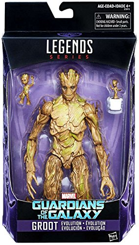 Marvel Legends 6-Inch Series Guardians of the Galaxy Exclusive Groot Evolution Action - Marvel Figure Series Legends