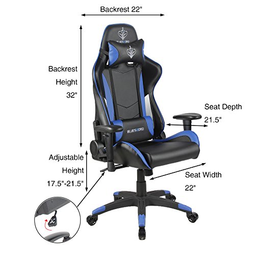 5112e8u3EcL - BLUE-SWORD-Carbon-Fiber-Gaming-Chair-Large-Size-Racing-Style-High-back-Adjustment-Office-Chair-With-Lumbar-Support-and-Headrest