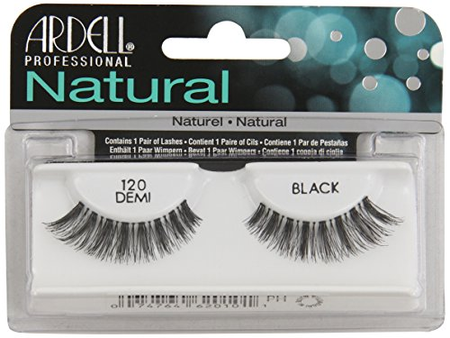 Ardell Fashion Lashes Natural Strip Lash, Black [120] 1 ea ( Pack of 4)