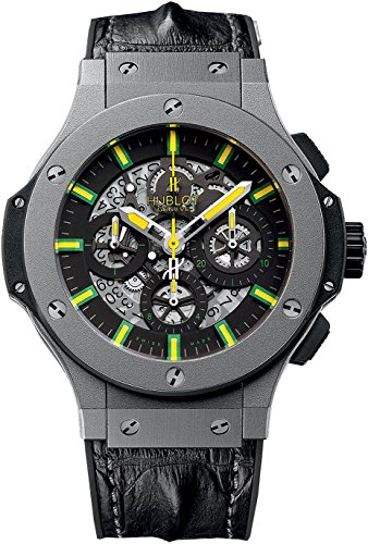 Hublot Oscar Niemeyer Skeleton Dial Black Leather Mens Watch 311.AI.1149.HR.NIE11