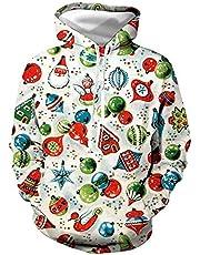 Unisex paar Kerstmis Hoodys 3D Printed Quick Dry Sweat shirt met lange mouwen capuchon zakken top # 88
