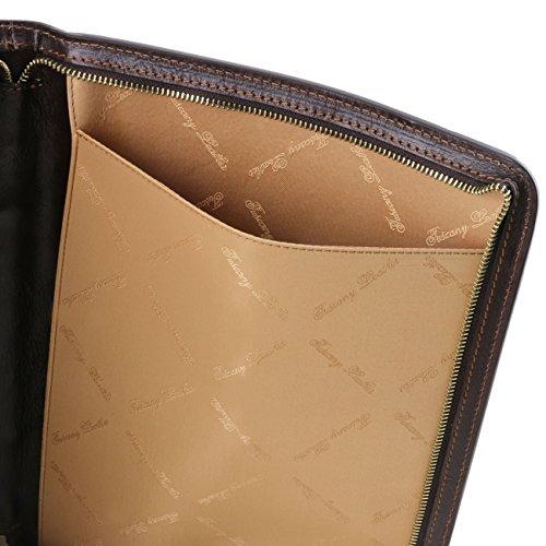 Tuscany Leather Ottavio - Portadocumentos en piel Marrón oscuro Portadocumentos en piel Rojo