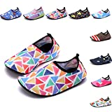 Sixspace Kids Water Shoes Swim Shoes Quick-Dry Barefoot Sock Shoes for Beack Swim Pool Yoga,Muiticolor 18/19