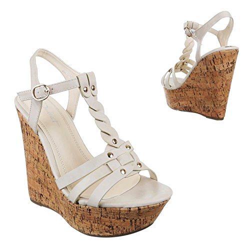 Of Femme King Beige Shoes Compensées Chaussures xvdw08qY