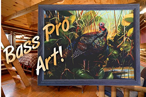 OSCEOLA WILD TURKEY ACRYLIC PAINTING DONE ON SITE AT BASS PRO SHOPS HUNTING AND FISHING FALL SPECTACULAR! (Fall Bass)