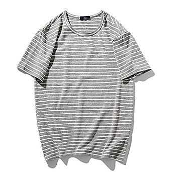 Camiseta de Color sólido para Hombre de Manga cortaCamiseta ...