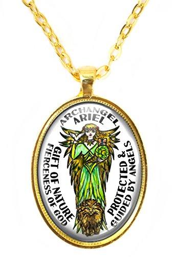 My Altar Archangel Ariel Fierceness of God Gift of Nature Huge Pendant (Ariel Pendant)