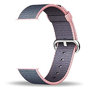 Smart Watch Band, Shanhai Woven Nylon Band for Apple Watch 42mm Series 1 & 2, Uniquely and Artistically Designed Replacement Strap for iWatch, Best Comfortably Light With Fabric-Like Feel (Black)