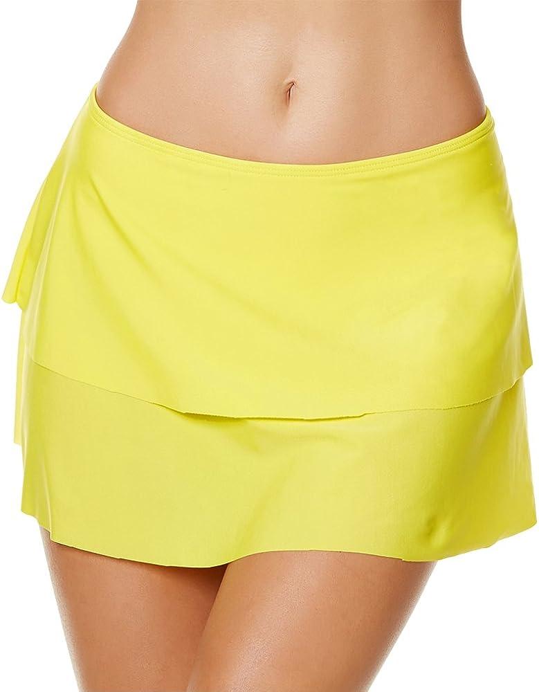 YoungSoul Trajes de baño con Falda incorporada - Shorts de baño de ...