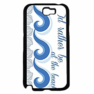 I'd Rather Be At the Beach TPU RUBBER SILICONE Phone Case Back Cover Samsung Galaxy Note II 2 N7100 by lolosakes