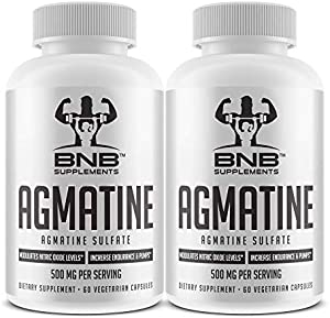 Agmatine Sulfate 500mg Twin Pack- 60 Count Vegetarian Capsules
