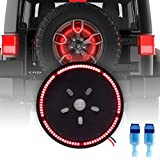 DITRIO LED Spare Tire Brake Light Wheel Lamp Ring for Jeep Wrangler JK (1997-2017) Visible 3rd Red Brake Light