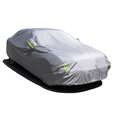 MATCC Car Cover Waterproof All Weather Upgraded UV Protection Sedan Cover Universal Fit Outdoor Full Car Cover Up to 185''(185''L x 70''W x 60''H): Automotive