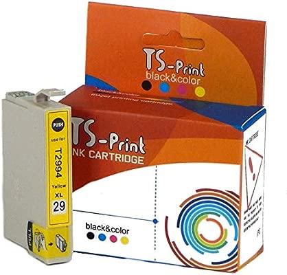 TS-Print 29XL 29 XL Epson Cartucho de Tinta Amarillo (Yellow) T2994XL T2994 Expression Home XP-235 XP-245 XP-255 XP-330 XP-335 XP-340 XP-345 XP-352 ...