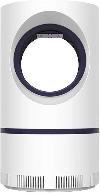 OSALADI Lámpara Mata Mosquito Eléctrico contra Mosquito Luz LED Antimosquito Inhalado Portátil con Puerto de Carga USB para Dormitorio Interior (Blanco Marfil)