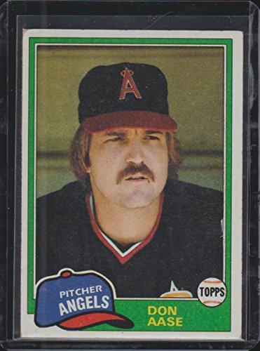 1981 Topps Don Aase Angels Baseball Card #601
