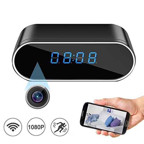 Spy Hidden Camera in Clock HD 1080P WiFi Cameras Video Recorder Wireless IP Camera 140°Angle Night Vision Motion Detection for Indoor Home Security by MJDUO