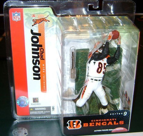 Chad Johnson (Chad Ochocinco) #85 Cincinnati Bengals White Uniform McFarlane NFL Series 9 Action Figure by Unknown (Bengals Nfl Uniform)