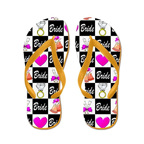 CafePress Bridal Love - Flip Flops, Funny Thong Sandals, Beach Sandals Orange