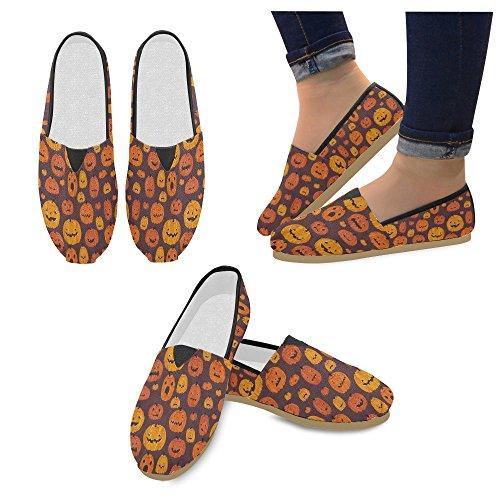 D-story Mode Sneakers Lägenheter Pumpa Kvinna Klassiska Slip-on Tygskor Loafers