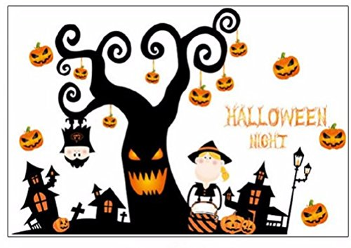 Halloween Wall Clings and Window Decals - Large Easy Peel and Stick Removable DIY Party Scene Setter Decor - Family Friendly Fun Design & Decorating Kit by Jolly Jon (Halloween Forest Scene Setter)