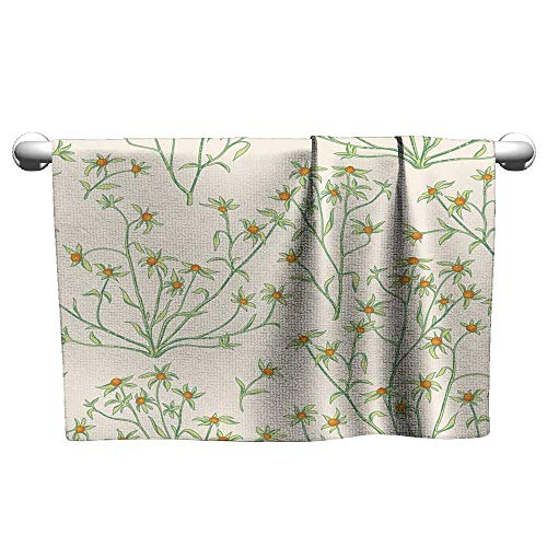 Tankcsard Floral Hand Towels Floral Seamless Pattern Flower Background Flourish Wallpaper with Berries and Flowers,Towel wrap for Girls ()