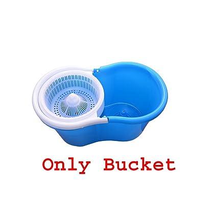 GTC Plastic Easy Magic Floor Mop 360 Degree Bucket (Multicolour)