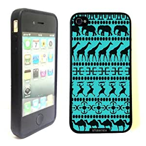 iPhone 4 4S Case ThinShell Case Protective iPhone 4 4S Case Shawnex African Animals Tribal Pattern Aztec