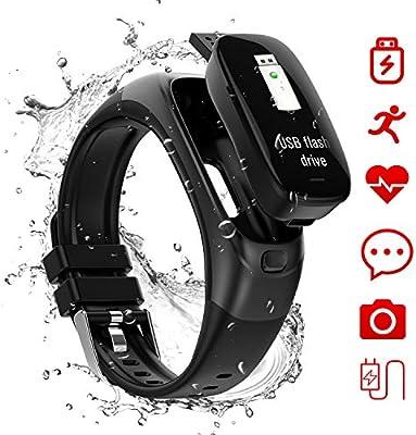 Amazon.com: Fitness Tracker, 32G Flash Disk Fitness Watch ...